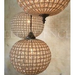 Small Beaded Globe Chandelier