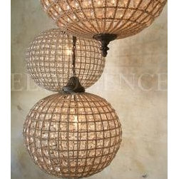 Small Beaded Globe Chandelier - These are so great to add a little sparkle.