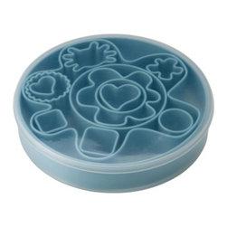 Camilla Tubertini - DRÖMMAR 14-piece pastry cutter set in box - 14-piece pastry cutter set in box, light blue