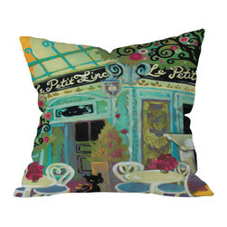 DENY Designs - Natasha Wescoat Le Petit Zinc Outdoor Throw Pillow, 16x16x4 - Do you hear that noise? It's your outdoor area begging for a facelift and what better way to turn up the chic than with our outdoor throw pillow collection? Made from water and mildew proof woven polyester, our indoor/outdoor throw pillow is the perfect way to add some vibrance and character to your boring outdoor furniture while giving the rain a run for It's money.