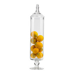 Tall Narrow Glass Apothecary Jar With Lid - *** FREE SHIPPING !!! ***
