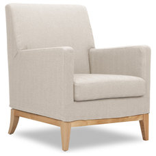 Modern Armchairs And Accent Chairs Kingston Light Beige Armchair
