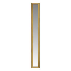 """Posters 2 Prints, LLC - 14"""" x 77"""" Arqadia Gold Traditional Custom Framed Mirror - 14"""" x 77"""" Custom Framed Mirror made by Posters 2 Prints. Standard glass with unrivaled selection of crafted mirror frames.  Protected with category II safety backing to keep glass fragments together should the mirror be accidentally broken.  Safe arrival guaranteed.  Made in the United States of America"""