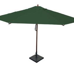 Greencorner - 13' Octagon Mahogany Umbrella, Forest Green - 13' Octagon