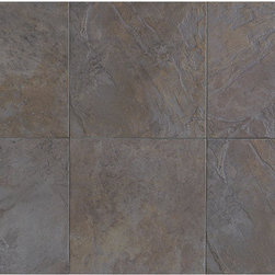 """Highland Ridge in Autumn - The beautiful Scottish Highlands are known for their rich surplus of natural slate. Today, we've captured the splendor of this enchanting region with Highland Ridge. Created to emulate natural slate, this rustic tile features a distinctive, textured surface complemented by four random shade/color variations. In addition to its three modular sizes, which make it ideal for patterning, its style is enhanced by two-color blend accent designs. A unique 1"""" x 3"""" mosaic further emphasizes its mesmerizing beauty. Slate-like and dramatic, Highland Ridge represents nature at its finest."""