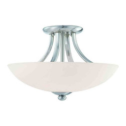 Dolan Designs - Dolan Designs 2905-09 Rainier Satin Nickel Semi-Flush Mount - Dolan Designs 2905-09 Rainier Satin Nickel Semi-Flush Mount