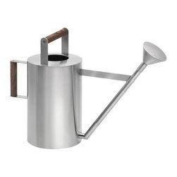 Blomus - VERDO Watering Can by Blomus - Long after the plastic can has cracked from the sun, the Blomus VERDO Watering Can will be around to fulfill gardening needs with ease. Made with rust-resistant stainless steel, this contemporary watering can is available in two sizes to accomodate both indoor and outdoor watering needs. Features wooden handles for simple carrying and pouring. Blomus, headquartered in Germany, specializes in the design and manufacture of beautifully engineered home and office accessories in modern stainless steel styles.