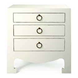 Bungalow 5 - Jacqui 3-Drawer Side Table - White - Jacqui 3-Drawer Side Table - White