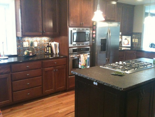 How can I brighten up my dark kitchen? My kitchen has black ...