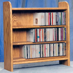 Wood Shed - 3 Shelf CD Storage (Unfinished) - Finish: UnfinishedCapacity: 220 CD's. Made from solid oak. Honey oak finish. 24.25 in. W x 7.25 in. D x 24.5 in. H
