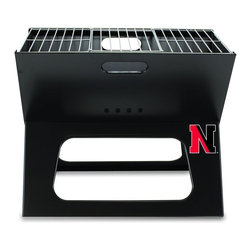 "Picnic Time - Northeastern University X-Grill Folding Portable Charcoal BBQ Grill - The X-Grill is the folding portable charcoal BBQ grill with a slim line design. Compact and easy to assemble, the X-Grill provides a grilling surface of 203.5 sq. in. The X-Grill includes 1 electro-plated iron barbecue grill, 1 chrome-plated tri-fold cooking grate (18.5"" x 11"") and 1 charcoal grate (all stored conveniently inside the folded grill), and 1 durable 600D polyester carrying tote. So why be confined to your backyard? With the X-Grill, you can take the BBQ wherever you want to go!; College Name: Northeastern University; Mascot: Huskies; Decoration: Digital Print; Includes: 1 electro-plated iron barbecue grill, 1 chrome-plated tri-fold cooking grate (18.5"" x 11"") and 1 charcoal grate (all stored conveniently inside the folded grill), and 1 durable 600D polyester carrying tote."