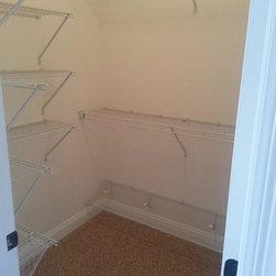custom closet systems - shelf and rod wire shelving