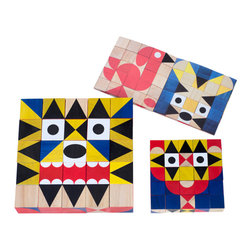 Miller Goodman - Mini ShapeMaker - Let your imagination be your inspiration as you create animals, images and creatures with these 25 colorful, mini wooden blocks. Designed by Zoe Miller and David Goodman, this whimsical bunch of geometric shapes keep adults and kids engaged for hours.