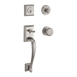 Baldwin - Baldwin SC.CHEXCUR.L.TRR.003 Reserve Napa Single Cylinder Handleset - Baldwin SC.CHEXCUR.L.TRR.003 Reserve Napa Single Cylinder Handleset with Round Knob and Traditional Round Rose, Satin Nickel