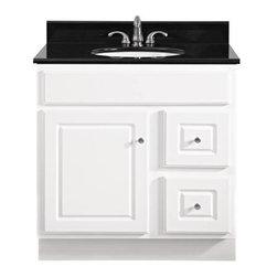 """SUNCO - Vanity 1 Door, 2 Drawer 30""""x21"""" White - 30"""" W x 21"""" D x 32-1/2"""" H Vanity."""