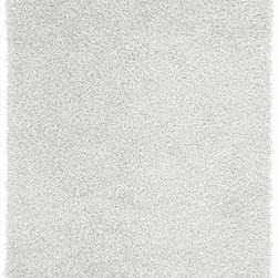 Surya - Surya Vivid Hand Woven White Plush Polyester Round Rug, 10' - Shag with some sizzle! These 1% polyester shags are not for the faint of heart. Coming in a 8 hot colors, the Vivid Collection is sure to add some splash to your homes look. Several scatter sizes have been added to compliment larger sized rugs. Imported.Material: 100% PolyesterCare Instructions: Blot Stains