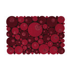 EcoFirstArt - Bubbles Red Rug - Think outside the rectangle with this round-edged rug, made up of myriad circular pieces of wool. This multi-leveled, textured rug
