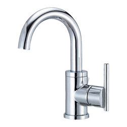 "Danze - Danze D221558 Centerset Side Handle Chrome - Danze D221558 Chrome Single Handle Lavatory Faucet is part of the Parma Bath collection.  D221558 Single hole mount lav faucet has a 5 1/4"" long and 9 1/2"" high swivel spout, with metal pop-up drain assembly included.  D221558 Single lever handle meets all requirements of ADA.  Californian and Vermont compliant.  WaterSense Certified."
