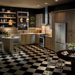 "Jenn-Air JFC2290VEM  36"" Cabinet Depth French Door Refrigerator - 36"" Cabinet Depth French Door Refrigerator with 16.3 cu. ft. Capacity Fridge and 5.5 cu. ft. Capacity Freezer, Water Dispenser, Ice Maker, TriSensor™ Climate Control, SmoothClose™ Drawer Track, LED Display"