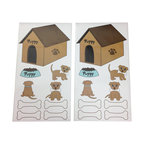 """Puppy Pal Boy - Wall Decals - Set of 2 - Wall Decals come in a variety of shapes of our """"Puppy Pal"""",  his doghouse, his bones and his eating dish.  What a cute way to accent a room with this fun decor!"""