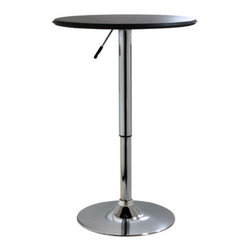 New Buffalo Corp. - Amerihome Adjustable Height Bar Table - The Amerihome adjustable Bar Table makes a great addition to your bar, game room, or basement. This Bar Table provides a cost-effective way to add dining space to your kitchen, staff room, or restaurant.