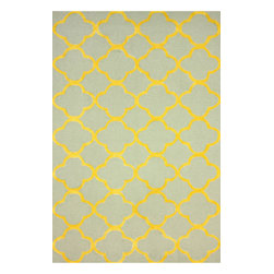 """nuLOOM - Contemporary 7' 6"""" x 9' 6"""" Gold Hand Hooked Area Rug Cotton Trellis VST34 - Made from the finest materials in the world and with the uttermost care, our rugs are a great addition to your home."""