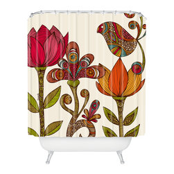 DENY Designs - Valentina Ramos In The Garden Shower Curtain - Who says bathrooms can't be fun? To get the most bang for your buck, start with an artistic, inventive shower curtain. We've got endless options that will really make your bathroom pop. Heck, your guests may start spending a little extra time in there because of it!