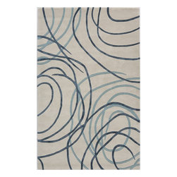 "Rugs America - Contemporary Millennium 1'6""x2'3"" Rectangle Patriotic Blue Area Rug - The Millennium area rug Collection offers an affordable assortment of Contemporary stylings. Millennium features a blend of natural Rainforest Dew color. Handmade of 100% Premium Wool & Mixed Yarns the Millennium Collection is an intriguing compliment to any decor."