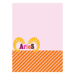WallPops - Aries Board Wall Decal - Adventurous and impulsive, Aries shall embrace this dry-erase message board with zealous abandon! Luscious orchid and orange make it look fabulous, you make it look smart. Comes with a dry-erase marker and boundless potential. WallPops are always repositionable and removable.