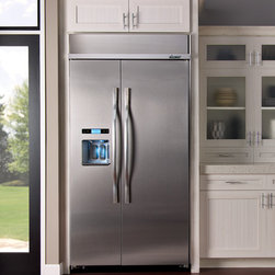 """Dacor Discovery 42"""" Built-In Refrigerators - Dacor Discovery 42"""" Built-In Refrigerators help to define your luxury kitchen.  With advanced features like the Ingredient Care Center - that ensures ultimate freshness, taste, and texture of your favorite cheeses, fresh produce, herbs and meats in an electronically-controlled temperature-adjustable drawer - your refrigerator performs as smartly as it looks.  PrecisePour™ shows the amount of water dispensed in ounces, cups or liters for easy and accurate measuring, while the large dispenser landing accommodates over-sized cups, sports bottles and tumblers.  The SureSeal™ Gasket System creates a firm instant seal that keeps the cold air inside to guarantee maximum food preservation.  Cool inside . . . beautiful outside."""