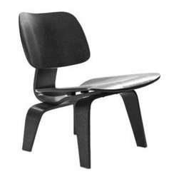 """LexMod - Fathom Lounge Chair in Black - Fathom Lounge Chair in Black - Designed to comfortably fit the body, the sculpted form of the molded plywood chairs are produced using thin sheets of lightweight veneer gently molded into curved shapes with natural rubber shock mounts to absorb movement. Since then, the chairs' aesthetic integrity, enduring charm, and comfort have earned it recognition as the best of modern design. Set Includes: One - Fathom Lounge Chair Durable Molded Plywood, Protective Rubber Foot Pads, Sturdy Construction Overall Product Dimensions: 23.5""""L x 22""""W x 26""""H Seat Dimensions: 20""""L x 14""""H - Mid Century Modern Furniture."""