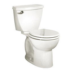 "American Standard - American Standard 2384.010.020 Cadet 3 Round Front Toilet 10"" Rough, White - American Standard 2384.010.020 Cadet 3 Round Front Toilet 10"" Rough, White. This combinaton tank/bowl toilet features a 10"" Rough-in, an EverClean surface that prevents the growth of bacteria, mold, and mildew, a fully-glazed 2-1/8"" trapway, a closed-coupled tank with a flat tank lid, a chrome-plated trip lever, a Speed Connect tank-to-bowl coupling system, and 2 color-matched bolt caps."