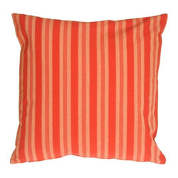 Pillow Decor - Pillow Decor - Tuscan Stripes in Red Throw Pillow - Warm and cheerful, this red striped pillow is made from 100% cotton and is ideal for functional living. This pillow will bring a hit of color to your home and is perfect in a kitchen nook, window seat or family room.