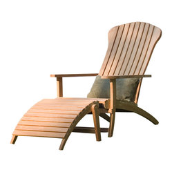Westminster Teak Furniture - Westminster Premium Teak Adirondack Chair - A luxurious spin on a classic chair: The Westminster Teak Adirondack Chair is THE premium teak adirondack chair on the market today.