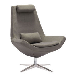 Bruges Occasional Chair, Olive Green - Polyblend & Brushed Stainless Steel.