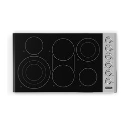 "Viking Professional 36"" Smoothtop Electric Cooktop Stainless Steel 