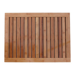 Oceanstar Design - Bamboo Floor and Shower Mat - Dimensions: 1in H x 23.75in L x 17.75in W
