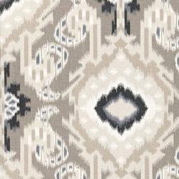F. Schumacher - Kiribati Ikat Print Fabric, Linen - 2 Yard Minimum Order.
