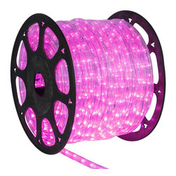 Seasonal Source - 1/2 inch 150 ft LED Pink Rope Light - LED Rope Lighting is some of the most versatile lighting. It can be wrapped around and bent into almost any shape or object.