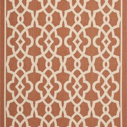 Safavieh - Safavieh Courtyard CY6071-241 8' x 11' Terracotta, Beige Rug - Safavieh's Courtyard collection was created for today's indoor/outdoor lifestyle. These beautiful but practical rugs take outdoor decorating to the next level with new designs in fashion-forward colors and patterns from classic to contemporary. Made in Turkey with enhanced polypropylene for extra durability, Courtyard rugs are pre-coordinated to work together in related spaces inside or outside the home.