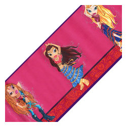 Brewster Home Fashions - Bratz Genie Magic Self Stick 12ft Wall Accent Border Roll - FEATURES: