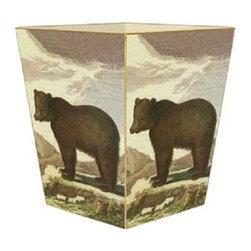 Marye-Kelley - Brown Bear Wastebasket - Brown Bear Wastebasket