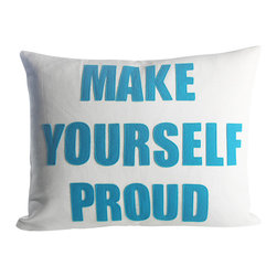 alexandra ferguson llc - Make Yourself Proud, Cream Canvas/Turquoise - Because who doesn't want to? MADE IN THE USA