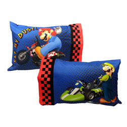 Store51 LLC - Super Mario Kart Pillowcases Nintendo Race Bed Accessories - FEATURES: