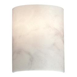 "Metropolitan - Metropolitan N2034 Alabaster Dust 1 Light Wall Sconce - 8.5"" W x 10"" H x 4"" Ext"