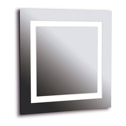 Design Craft - Horus 4-light LG Silver Vanity Mirror - This silver vanity mirror is the perfect way to illuminate dark spaces in your home. The mirror sits flush against the wall,allowing you to get plenty of coverage in even the smallest spaces. The mirror's four lights provide plenty of brightness.