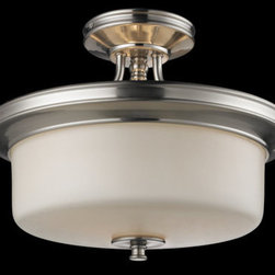 Z-Lite - Z-Lite 2102SF Cannondale 3 Light Semi-Flush Mount Ceiling Fixture - Z-Lite 2102SF Cannondale 3 Light Semi-Flush Mount Ceiling FixtureFrom Z-Lite's Cannondale Collection, featuring a metal frame, glass shade and modern lines highlight this three light semi-flush mount from the Cannondale Collection. With a height of 13.25 inches and a luxurious brushed nickel/matte opal finish, this semi-flush mount adds a contemporary feel to any room.Z-Lite 2102SF Features: