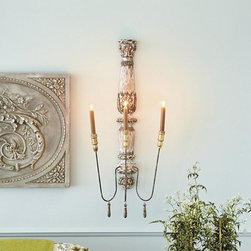 Ballard Designs - Valletta Candle Sconce - I have been in love with this candle sconce for a long time, and I finally bought one for my new home. I have an old French door that I plan to mount on the wall, and this will be mounted on that door.