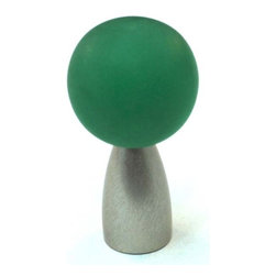 Cal Crystal - Polyester With Solid Brass  Knob (CAL-111-CM014-15) - Polyester With Solid Brass  Knob