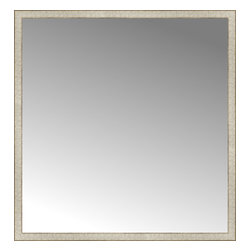 """Posters 2 Prints, LLC - 54"""" x 56"""" Libretto Antique Silver Custom Framed Mirror - 54"""" x 56"""" Custom Framed Mirror made by Posters 2 Prints. Standard glass with unrivaled selection of crafted mirror frames.  Protected with category II safety backing to keep glass fragments together should the mirror be accidentally broken.  Safe arrival guaranteed.  Made in the United States of America"""